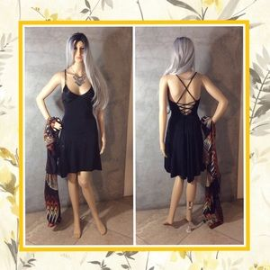 Dresses & Skirts - 🍒 3PC BLACK DRESS RETRO ORANGE COVER NECKLACE SET